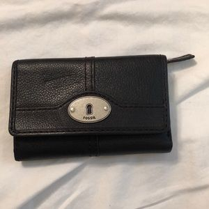 Black Fossil Women's Wallet